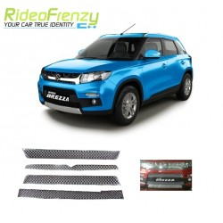 Buy Maruti Vitara Brezza Chrome Grill (upper+lower)-Triple Layered Chrome Plating at low prices-RideoFrenzy