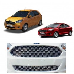 Buy Glossy Ford Figo & New Aspire Front Chrome Grill at low prices-RideoFrenzy
