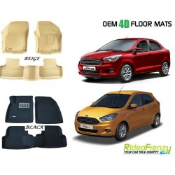 Ultra Light Bucket 4D Crocodile Floor Mats for Figo Aspire & New Ford Figo