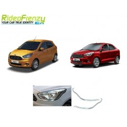 Buy Ford Figo Aspire/New Figo Chrome HeadLight Cover at low prices-RideoFrenzy