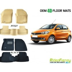 Ultra Light Bucket 4D Crocodile Floor Mats for Tata Tiago