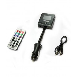 Car Mp3 FM Modulator Transmitter (With USB & Memory Card Slots & Aux Cable)