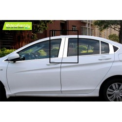 Buy Honda City Ivtect/Idtec Chrome Pliiar Set online at low prices-RideoFrenzy