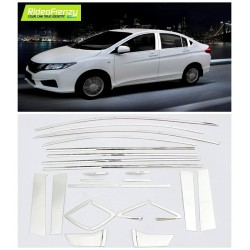 Premium Chrome Window Trim Line with Piller Set for Verna Fluidic