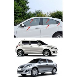 Buy Stainless Steel Chrome Window Trim for Maruti Swift/Dzire at low prices-RideoFrenzy