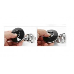 Premium Silver BL Power Steering Knob Black