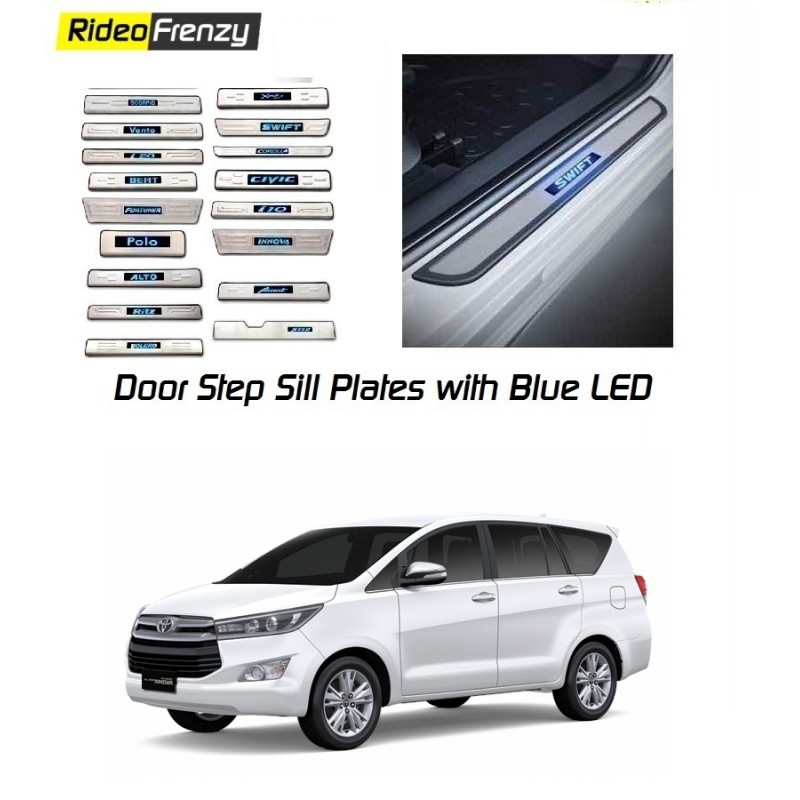 Door Stainless Steel Sill Plate with Blue LED for Honda BRV