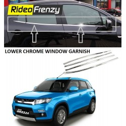 Buy Premium Glossy Vitara Brezza Chrome Lower Window Garnish at low prices-RideoFrenzy