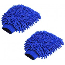 Microfiber Vehicle Washing Hand Glove(Pack Of 2)
