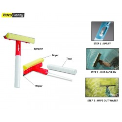 3 in 1 Glass Window Cleaning Wiper & Microfiber Dryer