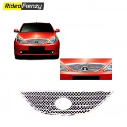 Front Tata Indica Vista Chrome Grill Covers(Upper)