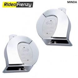 Minda Black Car/Bike Horns Set of 2