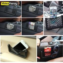 Universal Car Net Holder Phone Holder String Bag
