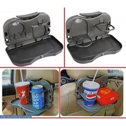 Premium Universal Black Car Meal Tray