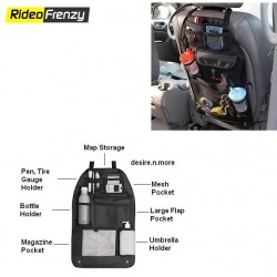 Black Car Back Seats Multi-Purpose Pockets Organizer Bag