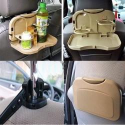 Premium Universal Black Mini Car Meal Tray