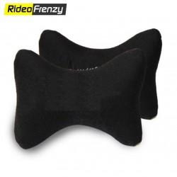 Premium Velvet Neck Rest Cushion for Car (Set of 2)