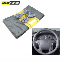 Premium Quality Original Leatherette Steering Cover-Beige