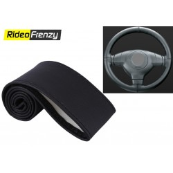 Premium Quality Original Leatherette Steering Cover-Gray