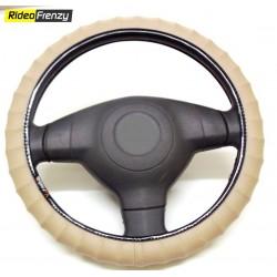 Premium Quality Bold Edge Steering Cover-Beige