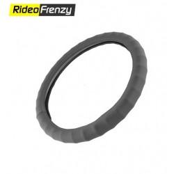 Premium Quality Bold Edge Steering Cover-Black
