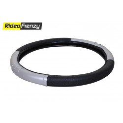 Premium Quality Soft Edge Steering Cover-Black
