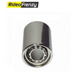 Round Chrome Heavy Duty Exhaust Muffler