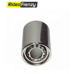 Round Chrome Heavy Duty Exhaust Muffler