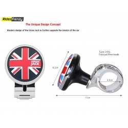 ORIGINAL IPOP Chrome Black Power Steering Knob