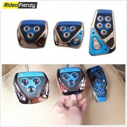 Sporty Anti Slip Car Pedal Kit Set of 3 Blue