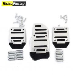 Sporty Anti Slip Car Pedal Kit Set of 3 Black