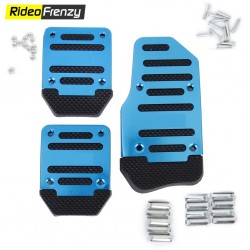 Metallic Anti Slip Car Pedal Kit Set of 3 Black