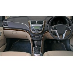 Buy Hyundai Fluidic Verna wooden dashboard trim kit online at low prices-RideoFrenzy