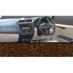 Buy New Honda Amaze & Brio Walnut Wooden Dashboard Trim Kit online at low prices-RideoFrenzy