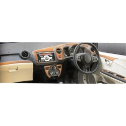 Honda Brio/Amaze(old model) Rosewood Wooden Dashboard Trim Kit