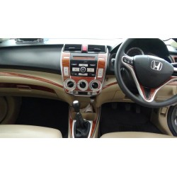 Buy Honda City Ivtec 2009-2013 RedWood wooden dashboard trim kit online at low prices-Rideofrenzy