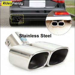 Racing Style Twin Chrome Heavy Duty Exhaust Muffler
