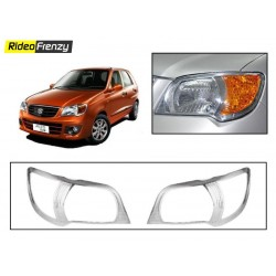 Buy Premium Alto K10 Chrome Head Light Covers at low prices-RideoFrenzy