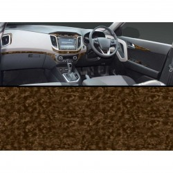 Hyundai Creta Walnut Wooden Dashboard Trim Kit