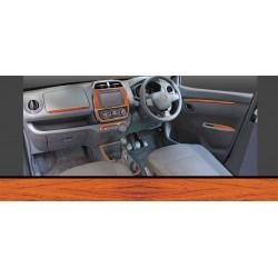 Renault Kwid Dashboard Trims Kit - Rosewood Colour