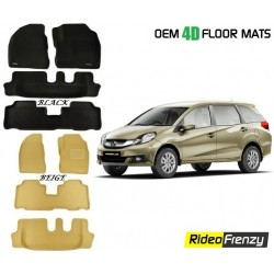 Ultra Light Bucket 4D Crocodile Floor Mats for Honda Mobilio