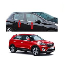 Premium Glossy Chrome Lower Window Garnish for Hyundai Creta-RideoFrenzy