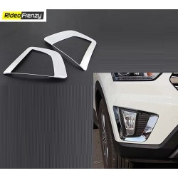 Buy Hyundai Creta Chrome Fog Lamp covers at low prices-RideoFrenzy
