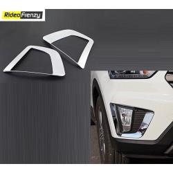 Buy Hyundai Creta Chrome Fog Lamp covers at low prices-RideoFrenzy