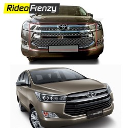 Buy Bentley Type Toyota Innova Crysta Chrome Grill Covers at low prices-RideoFrenzy