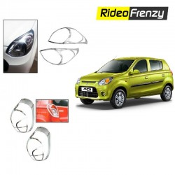 Buy Maruti Alto 800 Chrome HeadLight + Tail light Combo at low prices-RideoFrenzy