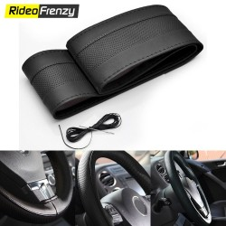 Original Pure Leather Black Steering Cover