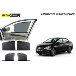 Buy Maruti Ciaz Automatic Side Window Sun Shade at low prices-RideoFrenzy