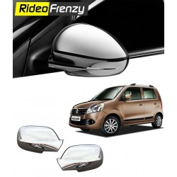 Buy Maruti Wagon R Chrome Mirror Covers with Indicator online at low prices-RideoFrenzy