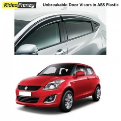 Unbreakable Maruti Swift Door Visors in ABS Plastic